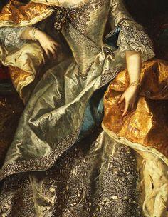 Maria Theresa as Queen of Hungary, 18th Century. Detail. via Jaded Mandarin