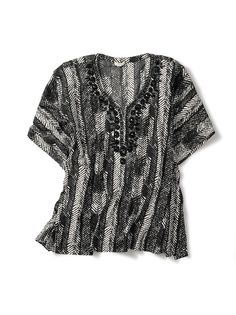 """Another versatile top from @Chico's. I'll be wearing this one on a tropical cruise: """"Tribal Trend. Positive Jiva Poncho"""" #chicos"""