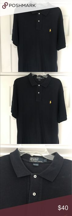 Men's Polo Ralph Lauren Pullover Men's polo Ralph Lauren pullover two button.  lately used in good condition. Navy Polo by Ralph Lauren Shirts Polos