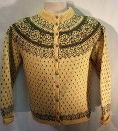 Regular Size S Wool Sweaters for Women Nordic Sweater, Ski Sweater, Sweater Cardigan, Fair Isles, Wool Sweaters, Skiing, Retro Vintage, Knitwear, Knit Crochet