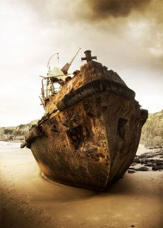 "A great photo by Helder Oliveira, ""Shipwreck"""
