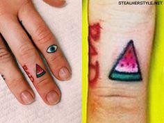 Miley Cyrus watermelon tattoo