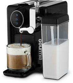 Gourmia One Touch Automatic Espresso Cappuccino & Latte Maker Italian engineered and components Coffee Machine Froth Milk In Cup with the Push of One Button Nespresso Compatible. ONE TOUCH INNOVATION: Create an impeccably adjusted latte or cappuccino with Coffee And Espresso Maker, Pod Coffee Makers, Cappuccino Maker, Best Coffee Maker, Cappuccino Coffee, Coffee Lovers, Coffee Coffee, Coffee Tables, Espresso Machine Reviews