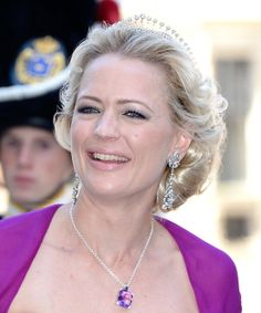 Princess Anna of Sayn-Wittgenstein-Berleburg, wife of Prince Manuel of Bavaria, wearing a Diamond Tiara, Germany (diamonds).