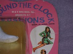 Set of 2 Vintage Shillman Around The Clock MIP Shoes  Boots, Fashions, for Barbie, Clone, etc.