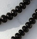 Faceted Rondelle → available in deep black color with micro cut, Faceted Rondelle. #GemstoneBeads