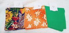 Vintage Cotton Fall Colors  Quilt Blocks   4 1/2 inch    Set of 36