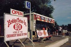 """Bridge Drive Inn (BDI) Who doesn't love this Winnipeg staple? Home of the """"goog"""" and my very favourite chocolate dipped chocolate with sprinkles. Best Memories, Lodges, Canada, Chocolate Dipped, Fun Food, Summer Days, Sprinkles, Bridge, Ice Cream"""