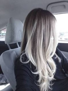 brunette to white ombre balayage - Google Search