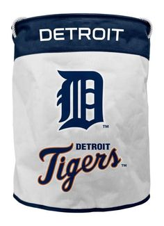DETROIT TIGERS CANVAS LAUNDRY BASKET WITH ROPE HANDLES FROM DUCK HOUSE  #DuckhouseSports #DetroitTigers