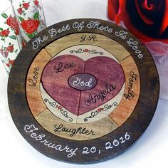 I love the way this unity ceremony wedding puzzle turned out the character of the wood is really prominent if you would like a custom designed unity ceremony wedding puzzle like this one click on the orange tag