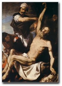 José de RIBERA Martirio de San Bartolomé (1644, Museo Nacional de Estocolmo, Suecia)