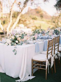 Blue Wedding Flowers - A Summer Wedding Awash in Lavender Blush Beach Wedding Flowers, Wedding Flower Arrangements, Wedding Colors, Wedding Ideas, Trendy Wedding, Budget Wedding, Wedding Reception, Wedding Vintage, Wedding Inspiration