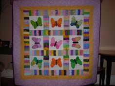 Great scrap busting butterfly quilt made for a marvelous niece.