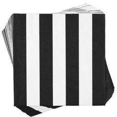APRÈS Papierserviette Streifen schwarz/weiß