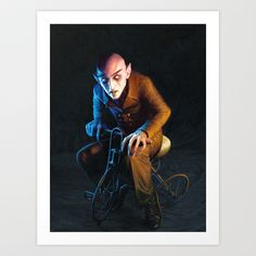 Nosferatu On A Tricycle Art Print by Margary.net - $17.00