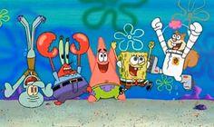 Spongebob Friends, Spongebob Faces, Spongebob Iphone Wallpaper, Iphone Wallpaper Glitter, List Of Characters, Cartoon Characters, Spongebob Painting, Pineapple Under The Sea, Nickelodeon Cartoons