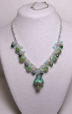 Baby Berry - Jewelry creation by Linda Foust Crystal Design, Pink Tourmaline, Peridot, Handcrafted Jewelry, Berry, Swarovski Crystals, Jewelry Making, Jewels, Baby Blue