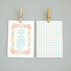 """Einladungskarten - Hochzeitseinladung """"BOHO BLOOMS"""" - ein Designerstück von bonjourpaper bei DaWanda"""