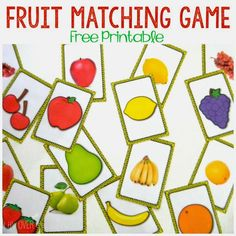 """Free printable fruit matching game: You can match the pictures of the """"real"""" fruit to the clip art. Lots of fun and especially great for special ed kiddos that need to practice with real pictures."""