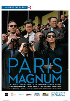 FREE MAGNUM EXHIBITION. From December 14th 2014 to April 25th 2014. 150 images of Paris captured by 30 photographers from the celebrated Magnum agency on display at a free exhibition at Paris City Hall. Henri Cartier-Bresson, Raymond Depardon, Robert Capa, Martin Parr, Marc Riboud and more - have presented their view of the metamorphoses of Paris and its inhabitants. A sensitive and challenging testimony, As witnesses to their times, they immortalise 80 years of the history of Paris.