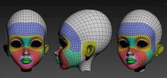 Topology woman head