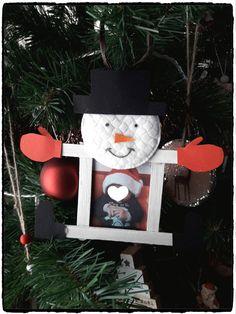 Cadre bonhomme de neige - Mes humeurs créatives Theme Noel, Animation, Activities, Jordan, Christmas Ornaments, Halloween, Holiday Decor, Diy, Home Decor
