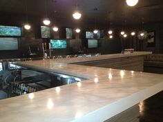 Our gorgeous concrete bar top. | Yelp