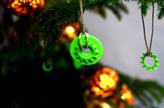 DIY ornaments taking a salvaged turn - a great way to add to your tree