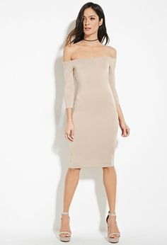 Off-the-Shoulder Bodycon Dress | Forever 21 - 2000151354