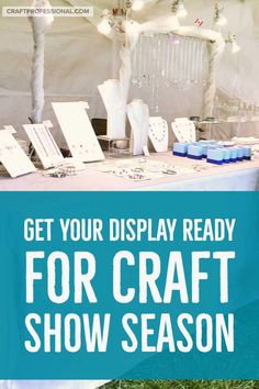 Craft vendors - Get your display ready for craft show season with inspiration from photos featuring great booth lighting, clothing display photos, plus how to secure your tent with tent weights Craft Show Booths, Craft Booth Displays, Photo Displays, Display Photos, Display Ideas, Retail Displays, Booth Ideas, Selling Handmade Items, Selling Crafts