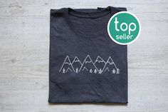 Mountains tee t-shirt shirt adult unisex vintage graphic design tee hiking shirt mountains are calling and I must go camping tee Mountains tee t-shirt shirt adult unisex soft tri-blend vintage graphic design tee hiking shirt heather dark gray Vintage Tops, Tee T Shirt, Shirt Print, Diy Shirt, Hiking Shirts, Vintage Graphic Design, Graphic Shirts, Mode Outfits, Custom T