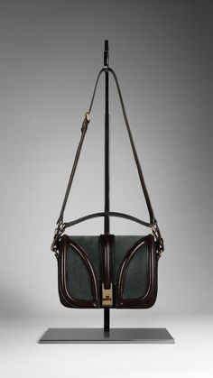 Burberry - SMALL LEATHER AND SUEDE CROSSBODY BAG
