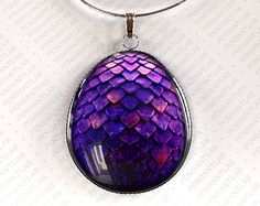 Red Dragon Egg hanger sieraden Dragon Necklace door PendantLab