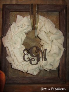 Lizzi's Creations: Fall Decorating on the Cheap: Burlap Wreath and Toilet Paper Pumpkins