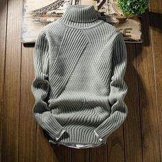 2018 New Fashion Classic Solid Color Turtleneck Sweater Men Winter Thick Warm Pullover Men Slim Fit Pull Homme Parka Style, Wear Store, Denim Jacket Men, New Fashion, Fashion Hair, Fashion Brand, Style Fashion, Autumn Fashion, Mens Sweatshirts