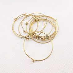 10pcs 30mm  Plain Hoop Earrings,brass Simple, Everyday minimal Wear, Lightweight thin Hoop,AG201703052 by Argentbead on Etsy