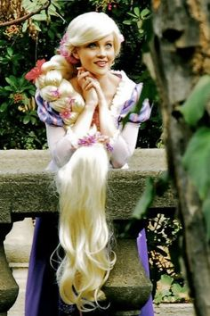 Rapunzel/tangled couture princess costume wig Adult EXTRA LONG