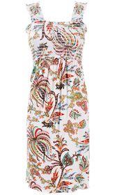 Smocked floral print nursing sundress - Milk Nursingwear