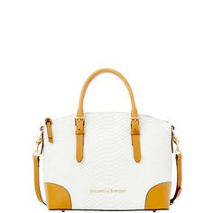 Dooney & Bourke | Claremont Python Domed Satchel | The head-turning style of this Domed Satchel is due to the unique texture of its leather.