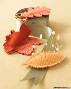 martha stewart leaf notions keeps sewing tools handy at any time - tutorial with instructions