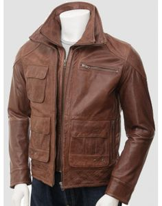 Stylo Brown Biker Leather Jacket sale in uk special discount offer on styloleather.com