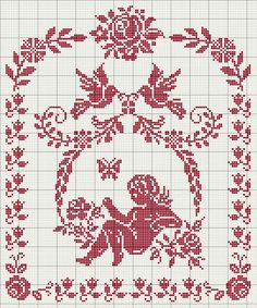 63 Ideas for embroidery stitches chart filet crochet Stitch And Angel, Cross Stitch Angels, Cross Stitch Borders, Cross Stitch Flowers, Cross Stitch Charts, Cross Stitch Designs, Cross Stitching, Cross Stitch Embroidery, Embroidery Patterns