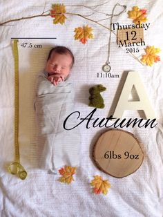 Newborn announcement photography