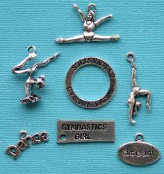 Gymnastics Charm Collection Antique Tibetan by BohemianFindings, $3.75