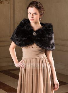 Faux Fur Special Occasion Wrap (013040705) - JJsHouse
