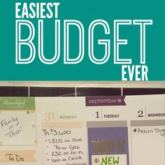 How to start a budget that's impossible to screw up.