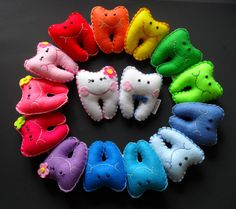 Tooth fairy pillows rainbow