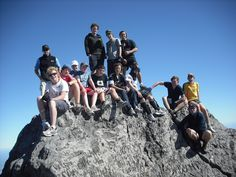 The team after a hard slog up to the top of Mt Taranaki  #greatwalker