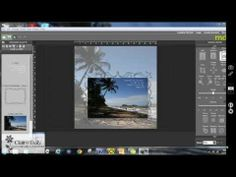 How to use a faded version of a digital photo as a background 'paper' on a digital scrapbooking page using My Digital Studio